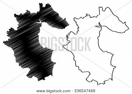 Louth County Council (republic Of Ireland, Counties Of Ireland) Map Vector Illustration, Scribble Sk