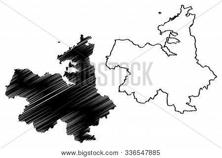 Sligo County Council (republic Of Ireland, Counties Of Ireland) Map Vector Illustration, Scribble Sk