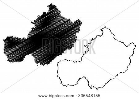 Westmeath County Council (republic Of Ireland, Counties Of Ireland) Map Vector Illustration, Scribbl