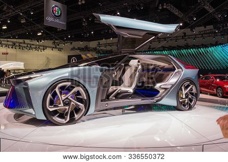 Lexus Lf-30 Electrified Concept On Display During Los Angeles Auto Show.