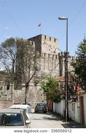 Tower And Walls Of The Fortress Of Anadolu Hisara On The Bosphorus. Turkey, Istanbul