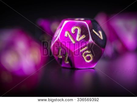 Set Of Polyhedra Dice For Role Playing Games