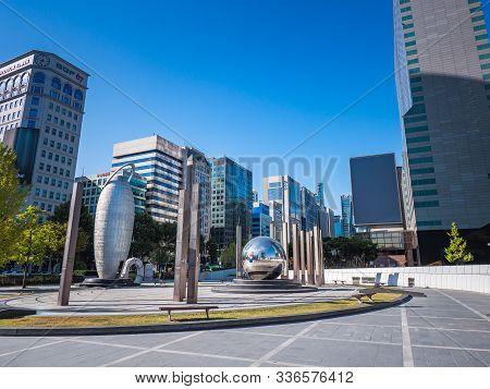 Seoul/south Korea - 10.29.2019: G20 Seoul Summit 2010 Monument