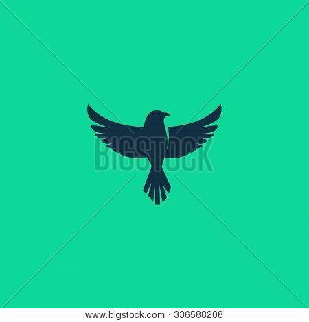 bird. bird icon . bird design . bird logo. flying bird logo. line art Bird logo icon. modern bird logo design concept . nature bird logo illustration. line bird logo isolated on dark blue color, Vector logo template