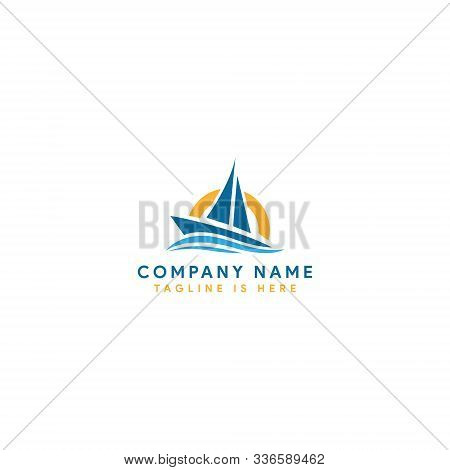 Boat Logo. Yacht Logo. Cruise Ship Logo Template Vector Icon Illustration Design, Ship Logo, Nautica