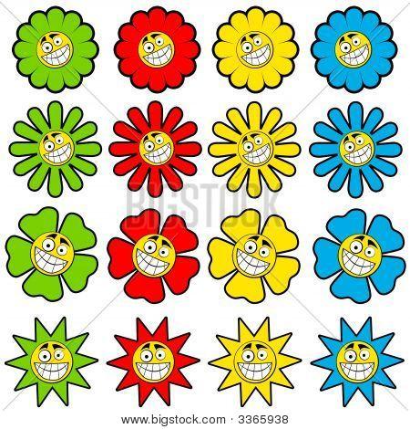 Happy Flowers Icons
