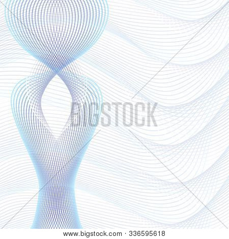 Light Purple, Blue Intricate Technology Pattern. Abstract Futuristic Design, Wavy Lines. Squiggle Su