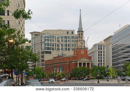 Washington Dc - Jun. 22, 2014: New York Avenue Presbyterian Church On 1313 New York Ave Nw In Washin