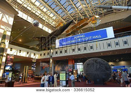 Washington Dc - Jun. 23, 2014: Interior Of Smithsonian National Air And Space Museum In Washington,