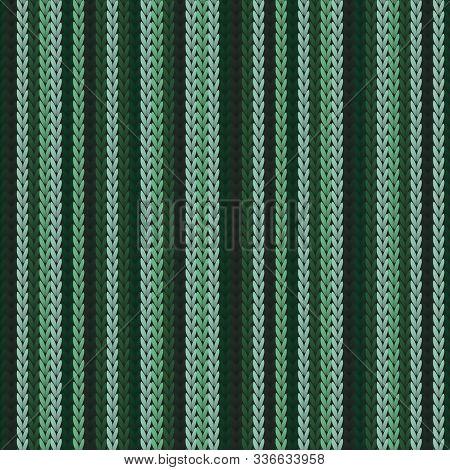 Vintage Vertical Stripes Knit Texture Geometric Seamless Pattern. Blanket Knitwear Fabric Print. Nor