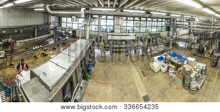 Lich, Germany - May 3, 2017: Visiting The Lich Brewery In Lich, Germany. The Brewery Is Over 150 Yea