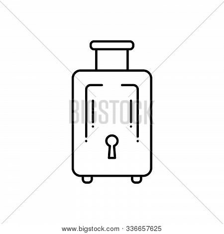 Black Line Icon For Baggage-luggage Baggage  Luggage Journey Insurance Tourist