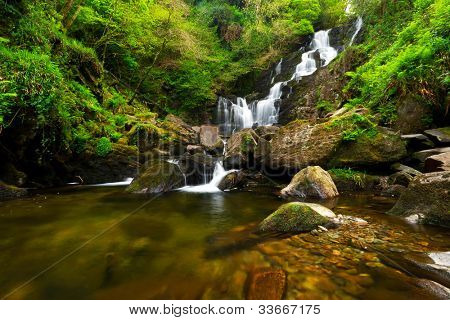 Torc waterfall in Killarney National Park, Ireland poster