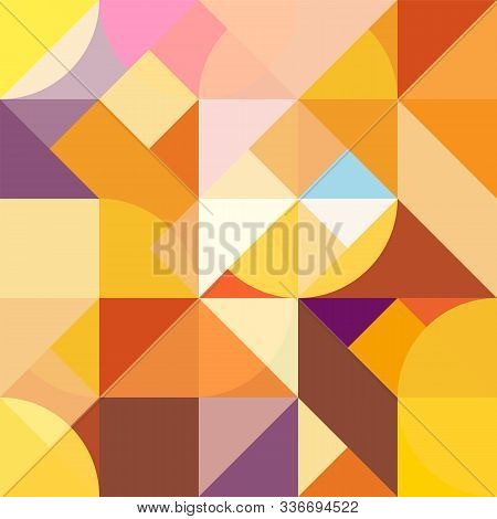 Abstract Geometric Background For Design And Decoration Of Flyer, Booklets, Textiles And Wrappers, T