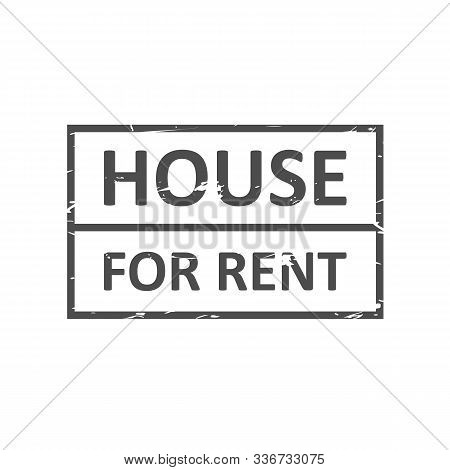 Home For Rent Rubber Stamp Vector Image. Rubber Stamp With Text Home For Rent Inside, Vector Illustr