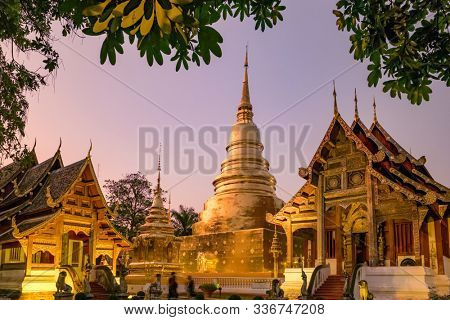 Wat Phra Singh in Chiang Mai, Northern Thailand