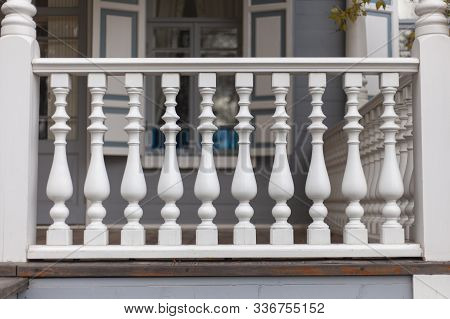 Architectural Element On The Porch Of The Baluster.