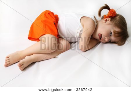 Small Girl Is Tired