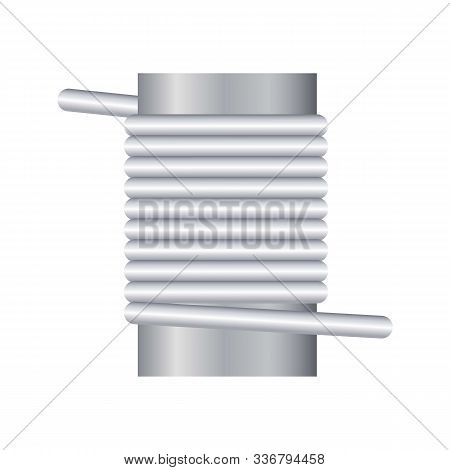 Industrial Magnetic Coil Icon. Cartoon Of Industrial Magnetic Coil Vector Icon For Web Design Isolat