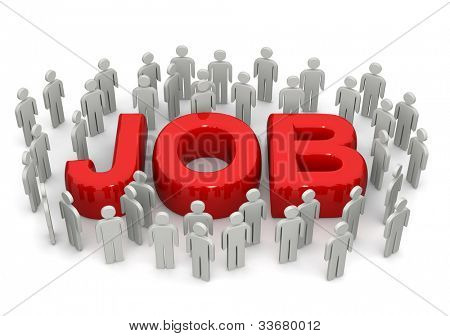 Career opportunity concept many people looking for job