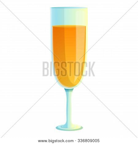 Tonic Juice Cocktail Icon. Cartoon Of Tonic Juice Cocktail Vector Icon For Web Design Isolated On Wh