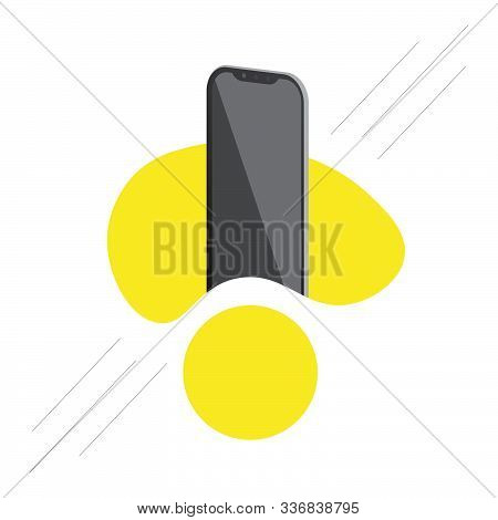 Realistic Smartphone Mockup Design For Business Layout