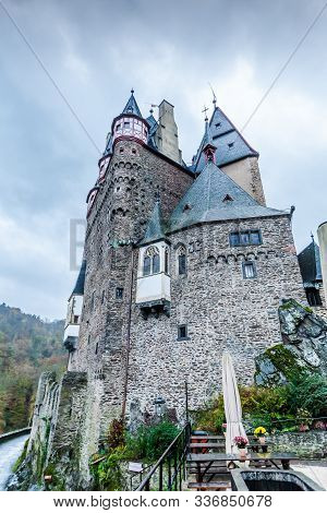 The Most Famous Of German Castles, Burg Eltz Castle Is A Towering Medieval Structure Located In A Lu
