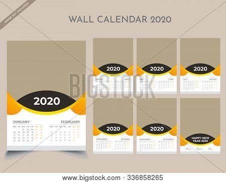 Calendar 2020 Templates In Vecto Design Illustration 3