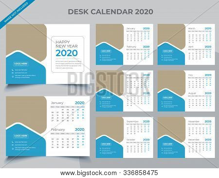 Calendar 2020 Templates In Vecto Design Illustration 9