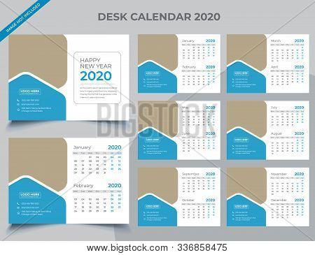 Calendar 2020 Templates In Vecto Design Illustration 9