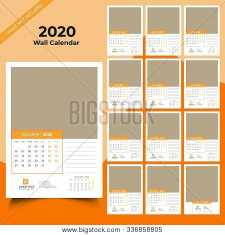 Calendar 2020 Templates In Vecto Design Illustration 14