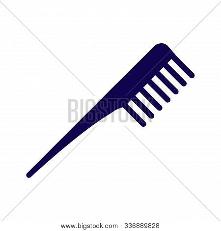 Comb Vector Barber Comb Salon Comb Comb Hair Black Comb Isolated On White