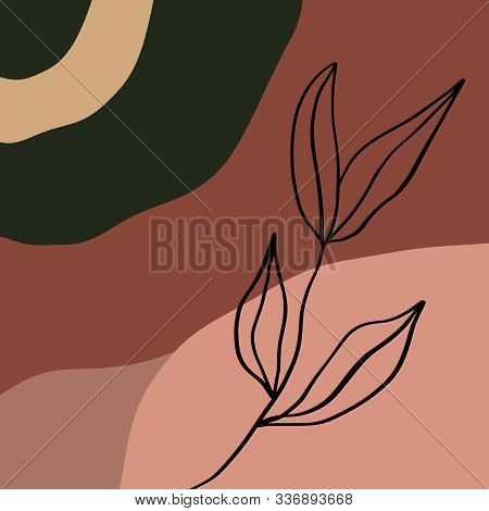 Terracotta Rust Canvas Art Print Abstract Modern Digital Painting Fashion Scandinavian Style Color A