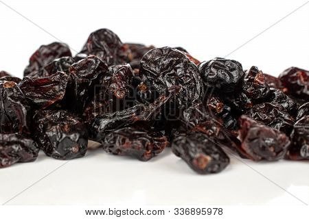 Lot Of Whole Dried Cowberry Heap Isolated On White Background