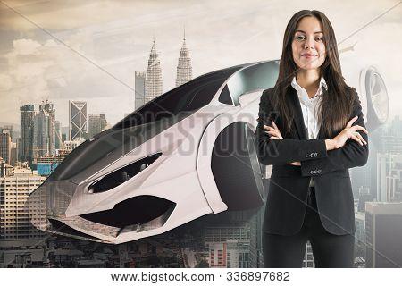 Businesswoman With Sportscar