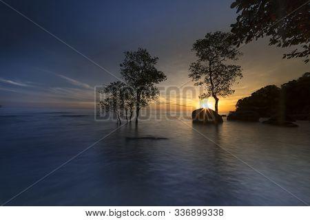 Sunset View From Tateyama Chiba, Japan Horizont Coast