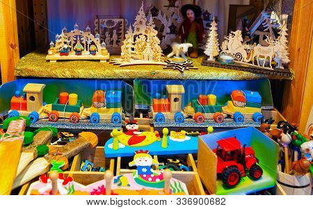 Wooden Toys At Christmas Market At Charlottenburg Palace Winter Berlin Reflex