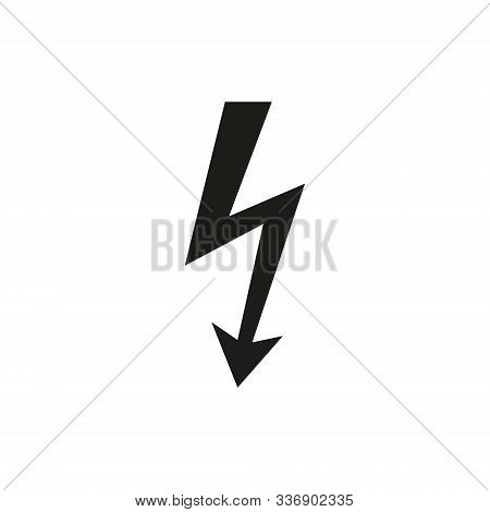 Vector Illustration Of High Voltage Risk Sign. Isolated.