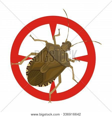 Bug Stink Vector Icon.cartoon Vector Icon Isolated On White Background Bug Stink.