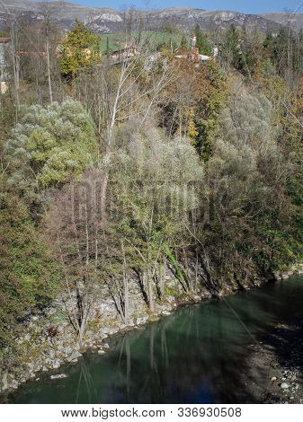 River Ter As It Passes Through Sant Joan De Les Abadesses (girona - Spain)