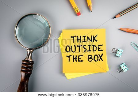 Think Outside The Box. Inspirational, Tips, Tutorial And Motivation Concept