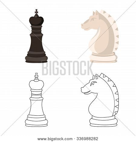 Isolated Object Of Checkmate And Thin Sign. Collection Of Checkmate And Target Stock Symbol For Web.