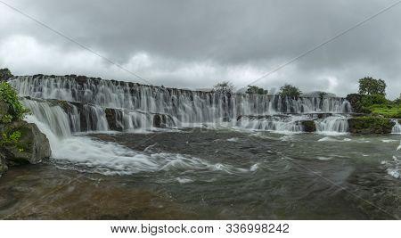 Pano Waterfall Near Bhandardara In Maharashtra, India