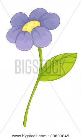 Illustration of a purple flower - EPS VECTOR format also available in my portfolio.