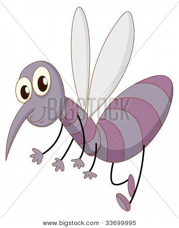 Illustration of a comical mosquito - EPS VECTOR format also available in my portfolio.