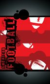 Grunge american football background with space (poster web leaflet magazine) poster