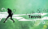 Tennis background with space (poster web leaflet magazine) poster