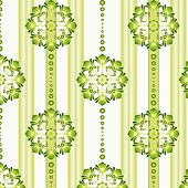 llustration of a green vintage seamless pattern wallpaper. poster