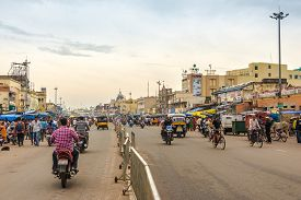Puri,india - November 9,2019 - In The Streets Of Puri. Puri Is One Of The Original Char Dham Pilgrim