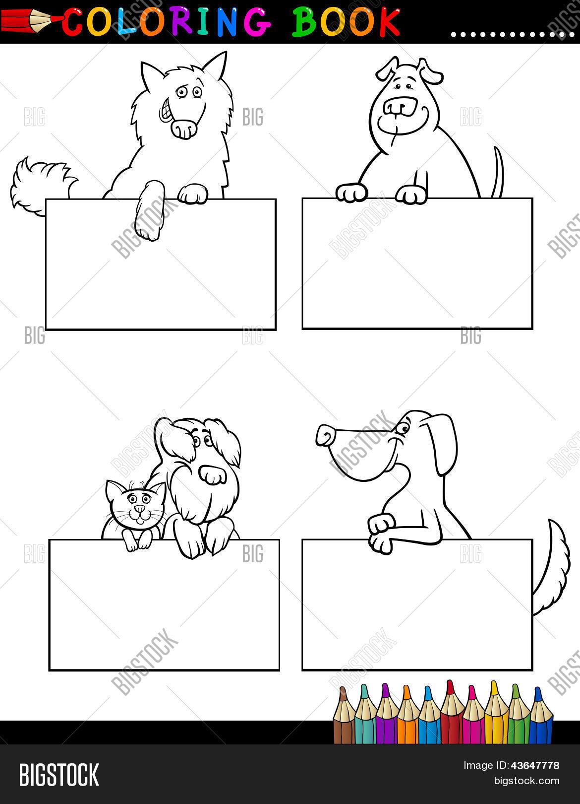 Vector Y Foto Perros De Dibujos Prueba Gratis Bigstock